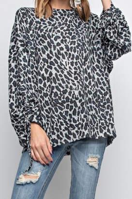 Easel Cheetah Print Top