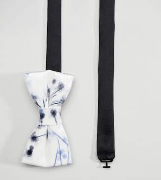 Noose & Monkey Bow Tie In Printed Velvet