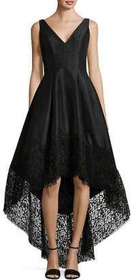 Betsy & Adam Hi-Lo Taffeta Dress