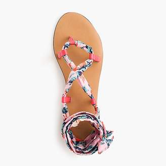 Wrap-around sandals in Liberty® floral