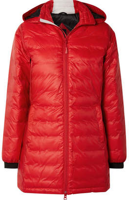 Canada Goose Camp Hooded Quilted Shell Down Jacket - Red