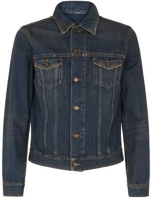 Saint Laurent Embroidered Applique Denim Jacket