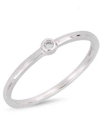 Bony Levy 18K White Gold Bezel Set Faceted Diamond Ring - 0.02 ctw