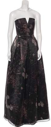 Alice + Olivia Silk-Blend Floral Gown