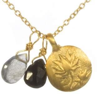 Satya Lotus Flower and Gemstone Bead Necklace