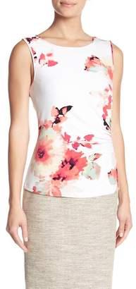 Modern American Designer Floral Ruched Side Cami