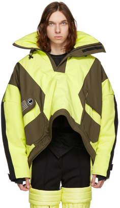 Colmar A.G.E. by Shayne Oliver Yellow and Khaki Short Villa Shell Jacket