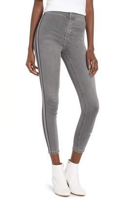 Topshop Joni Side Stripe Crop Skinny Jeans
