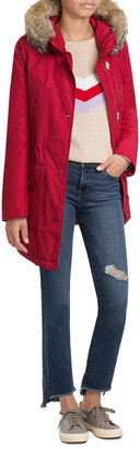 Woolrich Down Parka with Fur-Trimmed Hood $889 thestylecure.com
