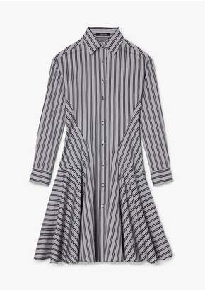 Derek Lam Brushstroke Print Silk Crepe De Chine Shirt Dress