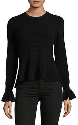 HUGO Long Sleeve Peplum Sweater