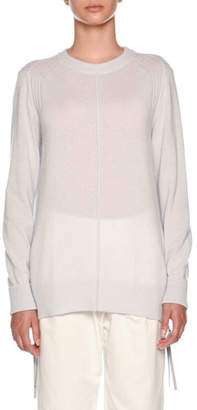 Agnona Cashmere Sweatshirt with Zip Pull Detail