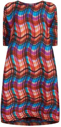 DAY Birger et Mikkelsen Pleats Please Printed Midi Dress