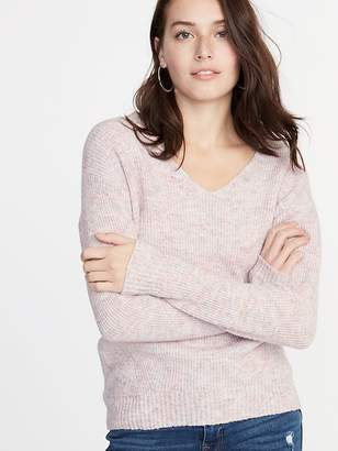 Old Navy Cozy Marled V-Neck Sweater for Women