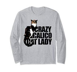 Le Chat Crazy Calico Cat lady long sleeve shirt Vintage Noir