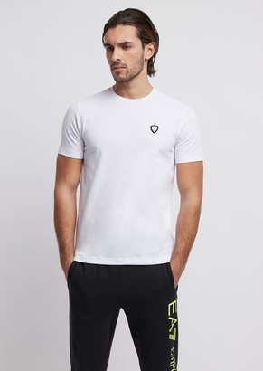 Emporio Armani Stretch Cotton T-Shirt With Ea7 Logo