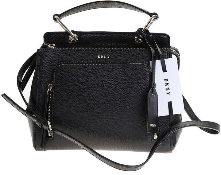 DKNYBlack Leather Briant Park Mini Bag