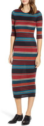 Sentimental NY Knit Stripe Midi Dress