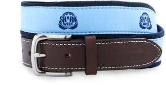 Vineyard Vines Shark Week Jaws Canvas Club Belt