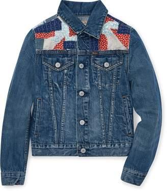 Ralph Lauren Patchwork Denim Trucker Jacket