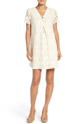 Women's Eci Floral Lace Shift Dress $98 thestylecure.com