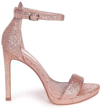 d513172039a Barely There Linzi GABRIELLA - Rose Gold Glitter Stiletto Heel With Slight  Platform