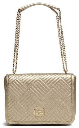 Love Moschino Quilted PU Leather Chain Shoulder Bag