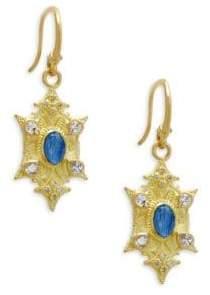 Armenta Diamond, Kyanite & White Sapphire Earrings