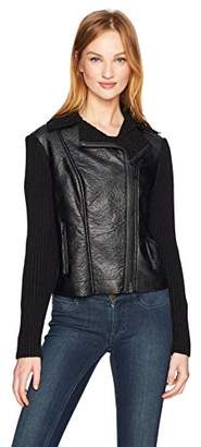 Jones New York Women's Moto Jacket with Sweater SLV