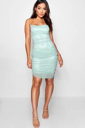 boohoo Lottie Ruched Bodycon Dress