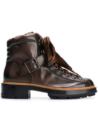 Santoni lace-up hiking ankle boots