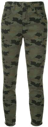 L'Agence camouflage print jeans