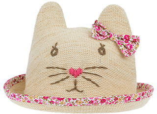 Monsoon Baby Sparkle Cat Bowler Hat