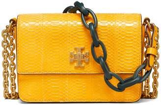 Tory Burch Kira Snake Double-Strap Mini Bag