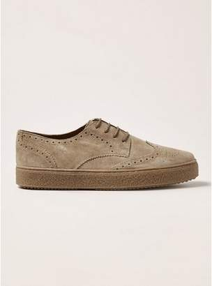 Topman Mens Yellow Sand Suede Hilton Brogues