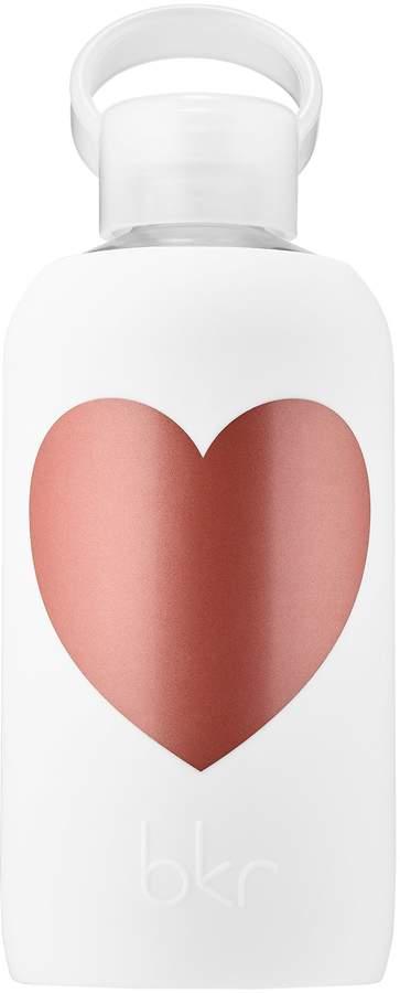Bkr bkr - Metallic Rose Winter Heart Glass Water Bottle
