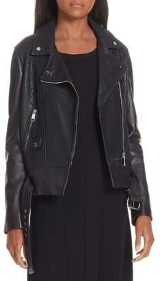 BOSS Sadana Leather Moto Jacket
