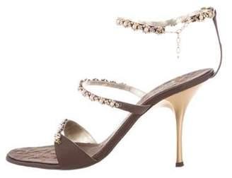 Vicini Satin Embellished Sandals