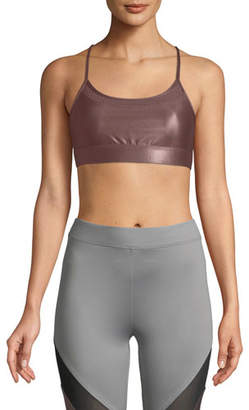 Koral Activewear Pacifica Low-Impact Racerback Metallic Sports Bra