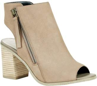 Sole Society Block Heel Peep-toe Booties - Arizona