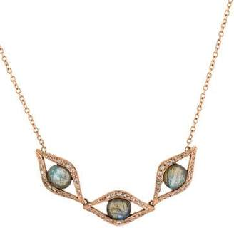 Jacquie Aiche 14K Labradorite & Diamond Evil Eye Necklace
