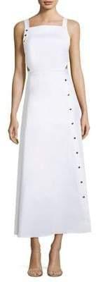 Tibi Asymmetrical Snap Strappy Dress