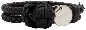 Bottega Veneta Black Intrecciato Knot Bracelet