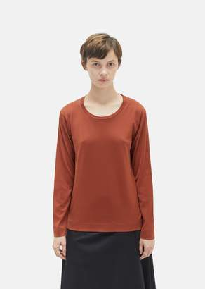 Margaret Howell Cotton Long Sleeve Tee Rust