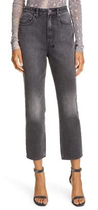 Ksubi Chlo Wasted High Waist Crop Straight Leg Jeans