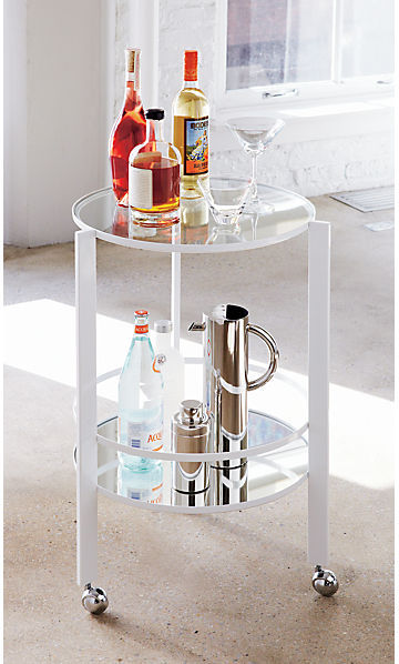 CB2 Ernest White Bar Cart