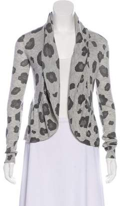 Rebecca Taylor Printed Open Front Cardigan