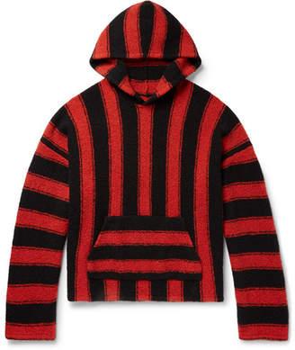 Amiri Baja Oversized Striped Wool-Blend Hoodie