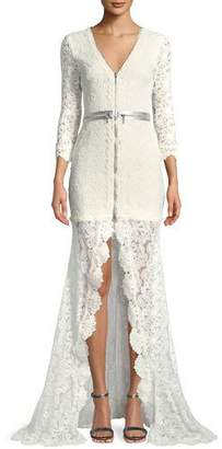 Alexis Finola Lace Zip-Front Gown