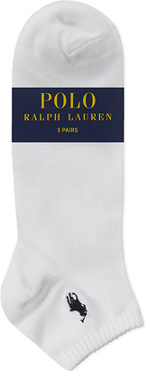 Polo Ralph Lauren Pony cotton trainer socks pack of three $21 thestylecure.com